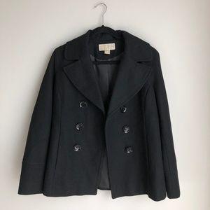Michael Kors Black Peacoat Winter Jacket - sz M